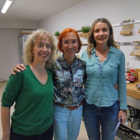 con Olga Cuevas en Barcelona en el IFPS Roger de LLuria y con Aida Forner